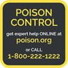 Poison Help magnet. Place on your refrigerator so Poison Control's number is always handy.