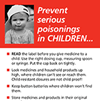 Tip card: Prevent poisonings in children. List of tips and 2 adhesive stickers with Poison Control's telephone number.