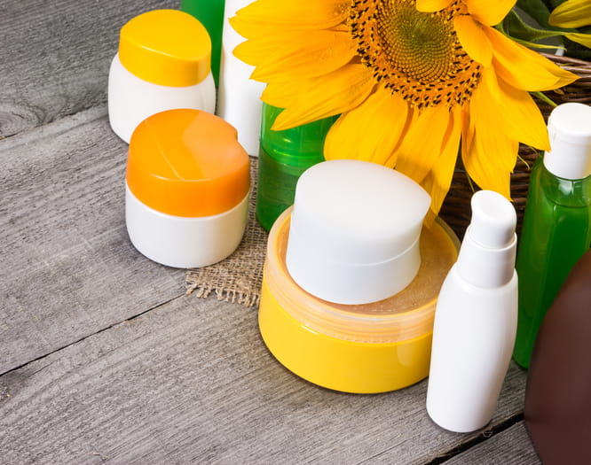 hair styling products with sunflower